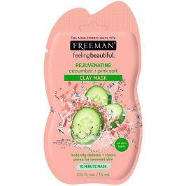 Freeman Feeling Beautiful Okurka a Růžová himálajská sůl kaolínová čisticí pleťová maska s omlazujícím účinkem 15 ml