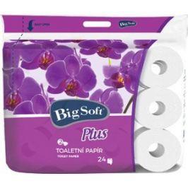 Big Soft Plus toaletní papír bílý 2 vrstvý 160 útržků 24 kusů