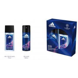 Adidas UEFA Champions League Victory Edition parfémovaný deodorant sklo pro muže 75 ml + deodorant sprej 150, kosmetická sada