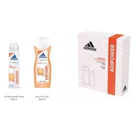 Adidas Adipower antiperspirant deodorant sprej pro ženy 150 ml + sprchový gel 250 ml, kosmetická sada