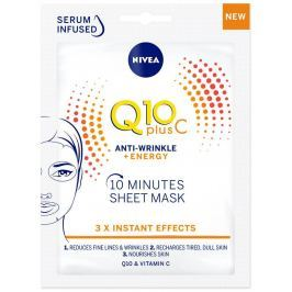 Nivea Q10 Plus C Anti-Wrinkle + Energy 10minutová textilní pleťová maska 1 kus