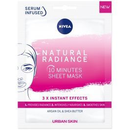 Nivea Urban Skin Natural Radiance 10minutová rozjasňující textilní maska pro unavenou a mdlou pleť 1 kus