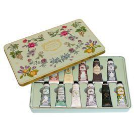 Panier des Sens Extra vyživující krém na ruce s obsahem esenciálních olejů v plechové krabičce 12 x 30 ml, kosmetická sada