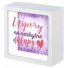 Nekupto Dárková pokladnička Úspory na nezbytné nákupy 16 x 16 x 6 cm