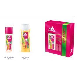 Adidas Get Ready! for Her parfémovaný deodorant sklo 75 ml + sprchový gel 250 ml kosmetická sada pro ženy