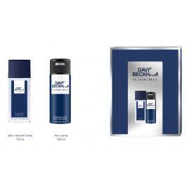 David Beckham Classic Blue parfémovaný deodorant sklo 75 ml + deodorant sprej 150 ml kosmetická sada pro muže