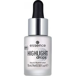 Essence Highlight Drops Liquid Illuminator tekutý rozjasňovač 10 Silver Lining 15 ml