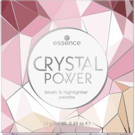 Essence Crystal Power Blush & Highlighter Palette paletka 14 g
