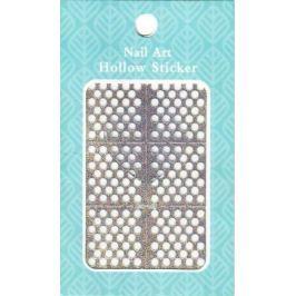 Nail Accessory Hollow Sticker šablonky na nehty multibarevné kolečka 1 aršík 129