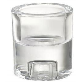 Bolsius Svícen sklo 2v1 na votivní i úzkou svíčku 60 x 65 mm