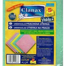 Clanax Univerzální utěrka viskóza netkaná 38 x 35 cm 5 kusů