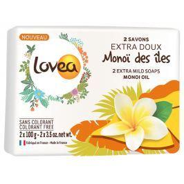 Lovea Monoi Extra jemné mýdlo 2 x 100 g