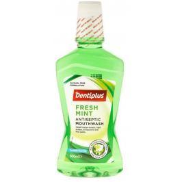 Dentiplus Fresh Mint ústní voda bez alkoholu, s mátovou příchutí 500 ml
