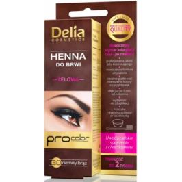 Delia Henna Tint gel na obarvení obočí3.0 tmavě hnědá 1 kus