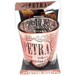 Albi Třpytivý svícen ze skla na čajovou svíčku PETRA, 7 cm