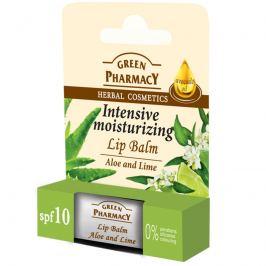 Green Pharmacy Aloe Vera a Limetka hydratační balzám na rty 3,6 g