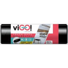viGO! Pytle na odpad černé 60 litrů 60 x 70 cm 10 kusů