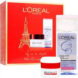 Loreal Paris Revitalift denní krém proti vráskám 50 ml + micelární voda pro normální a smíšenou pleť 200 ml, kosmetická sada