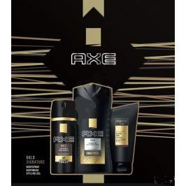 Axe Gold Signature Gold deodorant sprej pro muže 150 ml + sprchový gel 250 ml + Signature styling gel 125 ml, kosmetická sada