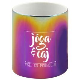 Albi Duhový hrnek Jóga a čaj. Vše co potřebuji 360 ml