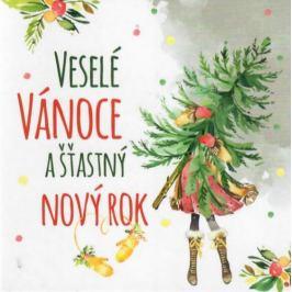 Nekupto Přání mini k Vánocům, Veselé Vánoce 10 x 10 cm 3526 XI