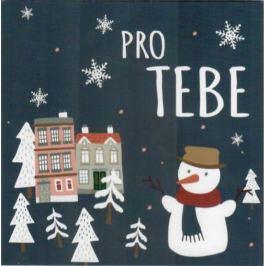Nekupto Přání mini k Vánocům, Pro Tebe 10 x 10 cm 3528 XI