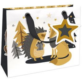 Nekupto Dárková papírová taška luxusní malá 18 x 16 cm Vánoční WLIS 1784