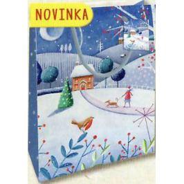 Nekupto Dárková papírová taška střední 23 x 18 x 10 cm Vánoční 1805 40 WBM