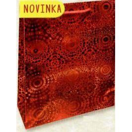 Nekupto Dárková papírová taška malá 14 x 11 x 6,5 cm Červená hologramová 121 30 THS