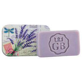 Bohemia Gifts & Cosmetics Levandule ručně vyráběné toaletní mýdlo s glycerinem v plechové krabičce 80 g