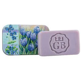 Bohemia Gifts & Cosmetics Modré květy - Levandule ručně vyráběné toaletní mýdlo s glycerinem v plechové krabičce 80 g