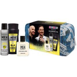 Dermacol Men Total Freedom sprchový gel pro muže 250 ml + deodorant antiperspirant sprej 150 ml + voda po holení 100 ml + etue, kosmetická sada