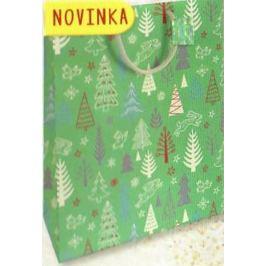 Nekupto Dárková papírová taška velká 32,5 x 26 x 13 cm Vánoční 1814 50 WBL