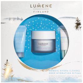 Lumene Lahde Nordic Hydra Deep hydratační denní krém 50 ml + gelová pleťová maska 15 ml + hydratační balzám na rty 10 ml, kosmetická sada