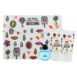 Moschino So Real Cheap and Chic toaletní voda pro ženy 4,9 ml + sprchový gel 25 ml + tělové mléko 25 ml, dárková sada