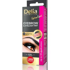 Delia Eyebrow Expert gelová barva na obočí a řasy s aktivátorem 1.1. Graphite - šedá 2 x 15 ml