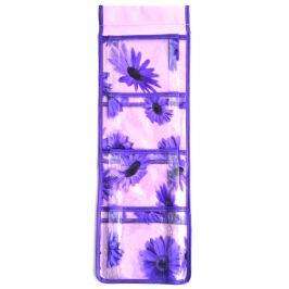 Kapsář na zavěšení fialový 54 x 18 cm 4 kapsy 712