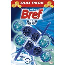 Bref Blue Aktiv Eucalyptus WC blok pro hygienickou čistotu a svěžest Vaší toalety, obarvuje vodu do modrého odstínu 2 x 50 g