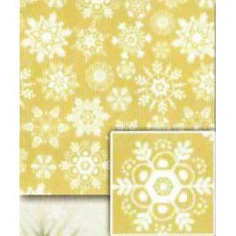 Nekupto Balicí papír vánoční Zlatý, bílé vločky 70 x 200 cm 1 role BVC 2015