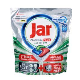 Jar Platinum Plus All in One Quickwash Action Cool Blue kapsle do myčky nádobí 50 kusů