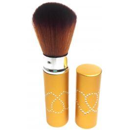 Kosmetický štětec na pudr s krytkou zlatý 11 cm 30450-06