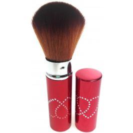 Kosmetický štětec na pudr s krytkou červený 11 cm 30450-06