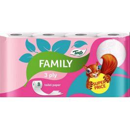 Tento Family Pink toaletní papír 3 vrstvý 8 kusů