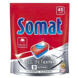 Somat All in 1 Extra tablety do myčky na nádobí 45 tablet 819g