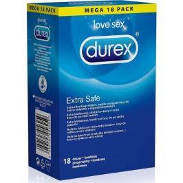 Durex Extra Safe kondom extra lubrikovaný, silnější nominální šířka: 56 mm 18 kusů