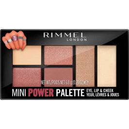Rimmel London Mini Power Palette paletka očních stínů, rty a tváře 006 Fierce 6,8 g