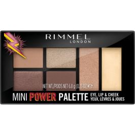 Rimmel London Mini Power Palette paletka očních stínů, rty a tváře 001 Fearless 6,8 g