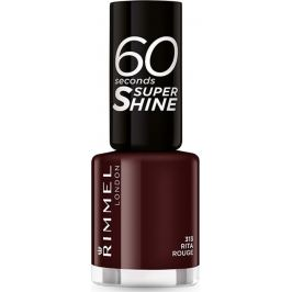 Rimmel London 60 Seconds Super Shine Nail Polish lak na nehty 313 Feisty Red 8 ml