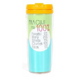Albi Dárkový termohrnek Pracuji 100% 700 ml