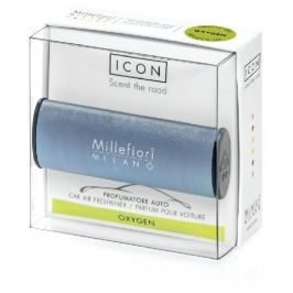 Millefiori Milano Icon Oxygen - Kyslík vůně do auta Metallo modrá matná voní až 2 měsíce 47 g